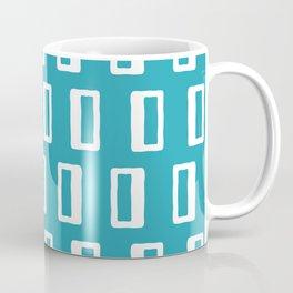 Chad Pattern Turquoise Coffee Mug