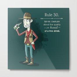 Rule 30 Metal Print