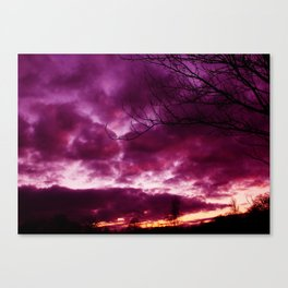 Moody Purple Sky Canvas Print