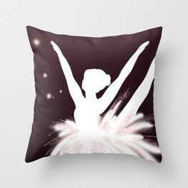 Space Ballerina (3 of 3) Throw Pillow