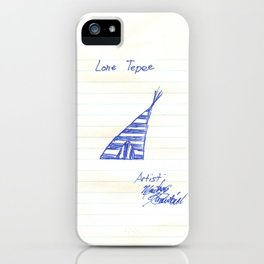 the Lone Tepee iPhone Case