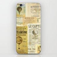 ballon iPhone & iPod Skins featuring Le Ballon by Ephemera's Vintage Garden