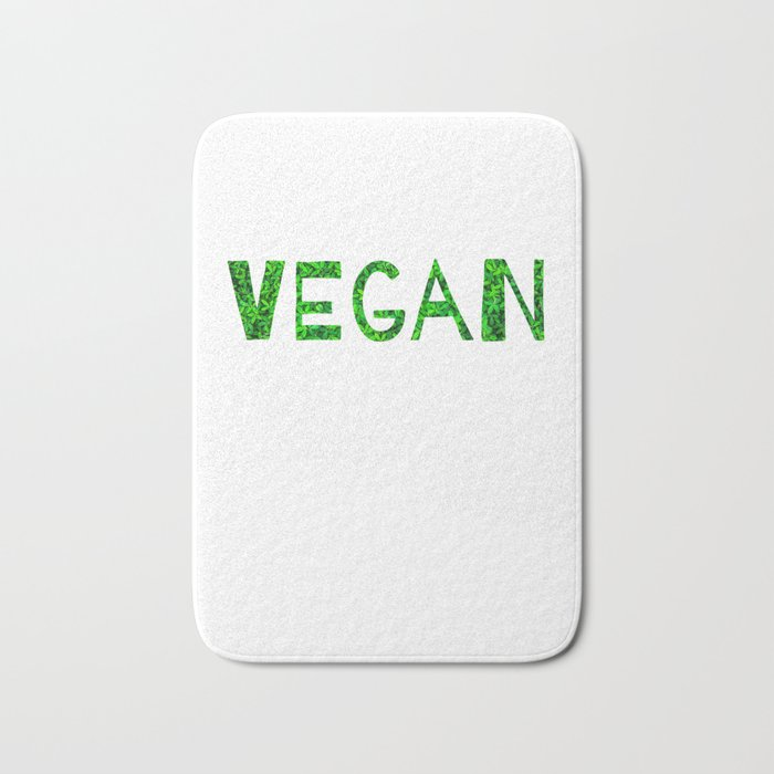 Vegan Quote Bath Mat