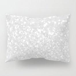 Chic elegant glamour White Faux Glitter  Pillow Sham