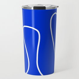 Blue Abstract Wave Travel Mug