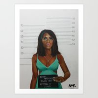 Celebrity Mugshots-Guilty As Charged Art Print