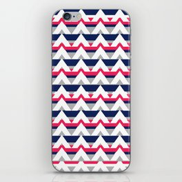 Chevron in pink and blue iPhone Skin
