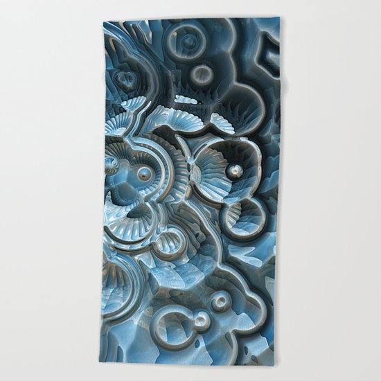 Reflections of A Fractal Fossil Beach Towel