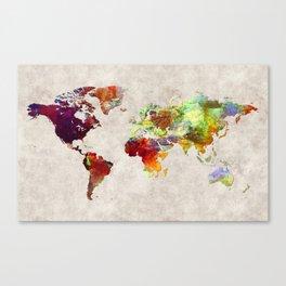 World Map 62 Canvas Print