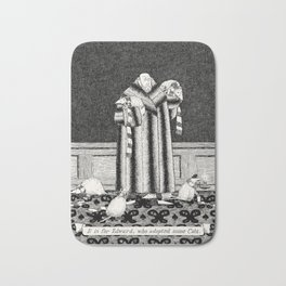 E IS FOR EDWARD, WHO ADOPTED SOME CATS Bath Mat