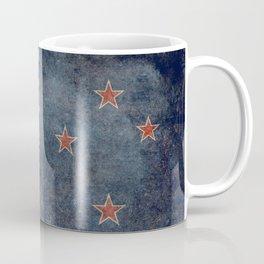 New Zealand Flag - Grungy retro style Coffee Mug