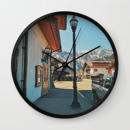 Sunny day in Leavenworth Wall Clock
