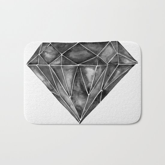 Black Diamond Bath Mat