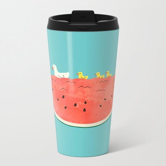 duckies and watermelon Metal Travel Mug