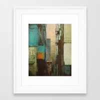 orange Framed Art Prints featuring ESCAPE ROUTE by Liz Brizzi