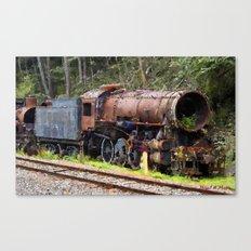 Cemetery of locomotives Canvas Print