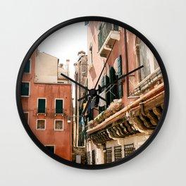 Venice Italian Colorful Village Wall Clock