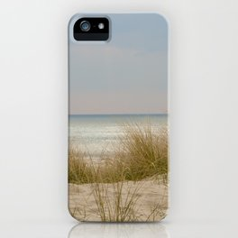 view of the North Sea from the dunes iPhone Case