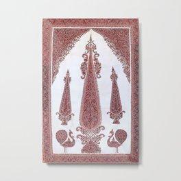 Kerman South Persian Embroidery Print Metal Print