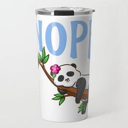 Cute & Funny Nope Not Today Lazy Napping Panda Travel Mug