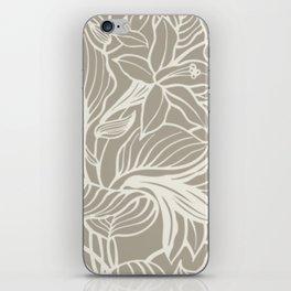 Gray Grey Alabaster Floral iPhone Skin