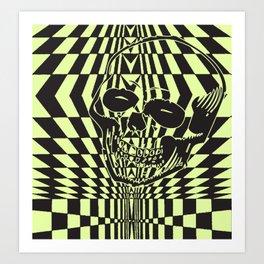 Shredding Skull Art Print