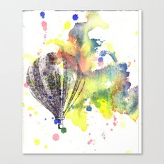 Hot Air Balloon Rising in Color Canvas Print