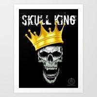 Skull King Print Art Print