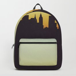 Sunrise in New York City Silhouette (Color) Backpack