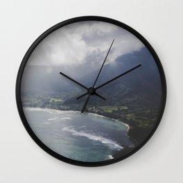 Hanalei Bay - Kauai, Hawaii Wall Clock