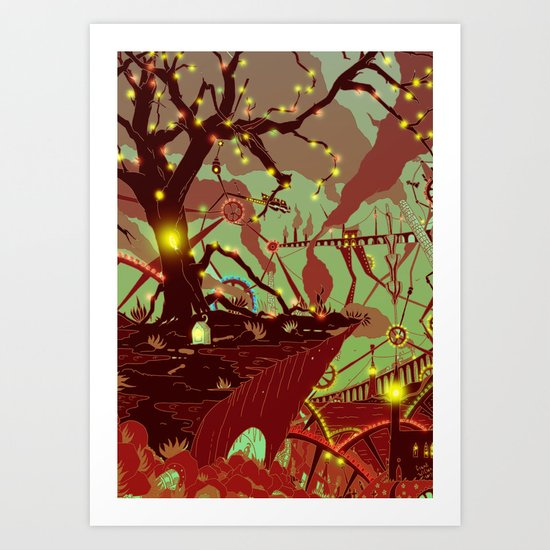Machine-scape  Art Print
