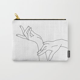 Hands line drawing illustration - Dana Carry-All Pouch