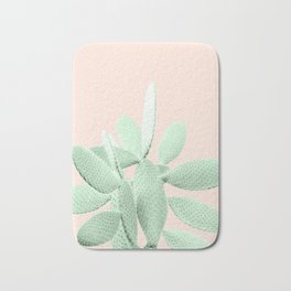 Green Blush Cactus #1 #plant #decor #art #society6 Bath Mat