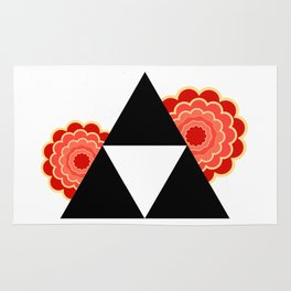 Triforce Red Flowers Rug