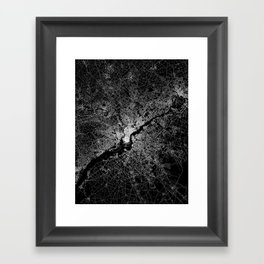 philadelphia map Framed Art Print