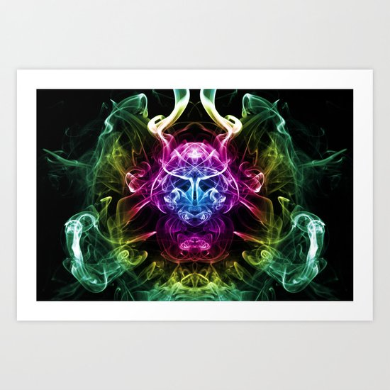 Smoke Warrior Art Print