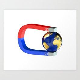 Earth Magnetic Poles Art Print