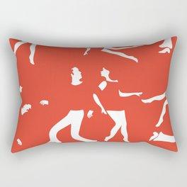 Funky couples dancing Rectangular Pillow