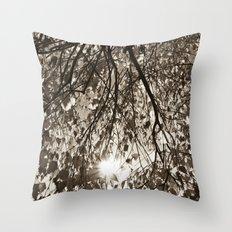 Sepia Autumn  Throw Pillow