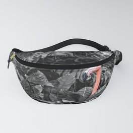 Pink Flamingo Poking His head Above the Leaves Fanny Pack