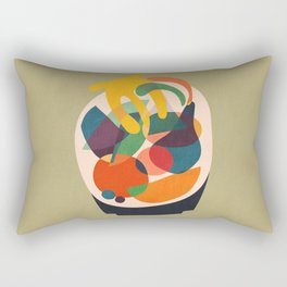Fruits in wooden bowl Rectangular Pillow