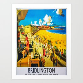retro Bridlington travel poster Art Print