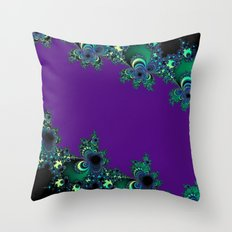 Asymmetrical Fractal 218 Throw Pillow