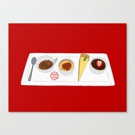 Café Gourmet Set Canvas Print
