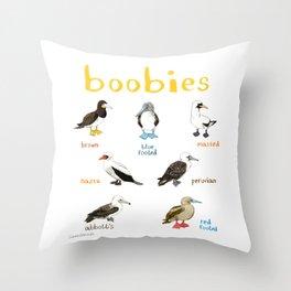 Boobies Illustration Throw Pillow