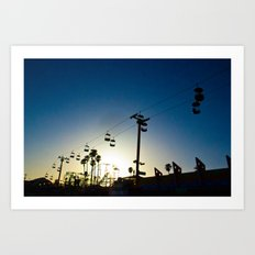 Sunset at the Boardwalk Art Print