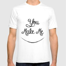You Make Me Smile - Chalkboard Mens Fitted Tee MEDIUM White