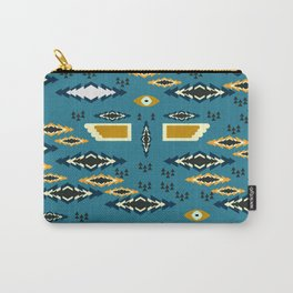 Little ethnic shapes in blue Carry-All Pouch