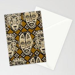 Tiki Tribal Masks Safari Stationery Cards