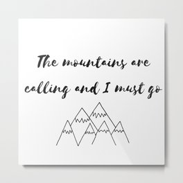 Mountain Sound Metal Print